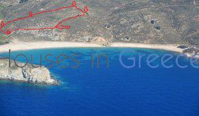 Andros, plot at the beach for sale