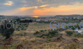 Land for sale in Paros-Kakapetra with sunset view