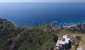 Andros, unique sun set villa in Kato Aprovato for sale