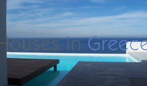 Villa moderne avec piscine et vue mer à Kea