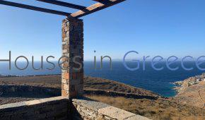 Kea: Sunset stunning view house in Koundouros