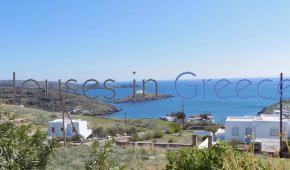 Kythnos, Aoussa, fantastic plot with sea view for sale