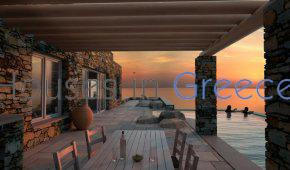 Andros, fantastic modern cave house 100m from beach