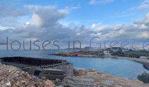 Paros : villa en construction en bord de mer
