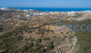 Sifnos, Apollonia, fantastic plot with sea view for sale